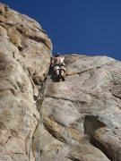 Rock Climbing Photo: Chris Roullard leading the way.