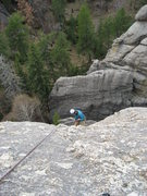 Rock Climbing Photo: Rapping Down from Summit