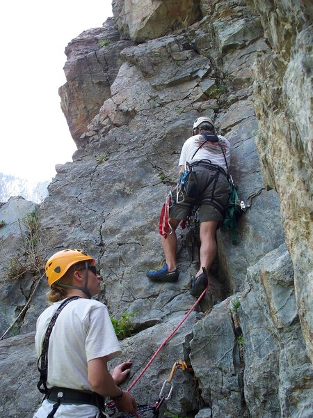 Rock Climbing Photo: My dad and i checking out an unknown on the Bumble...