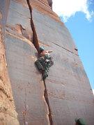 Rock Climbing Photo: Gorilla.10a, Indian Creek