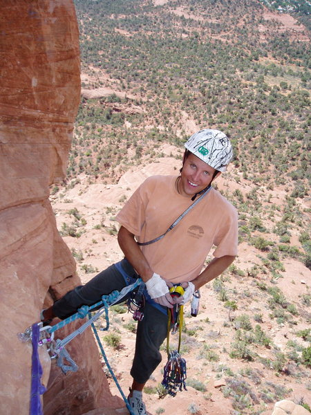 Rock Climbing Photo: On a tower in Sedona