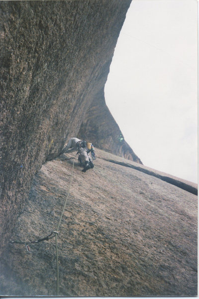 Rock Climbing Photo: Ramblin Rose, III .10b, Wigwam Dome, South Platte