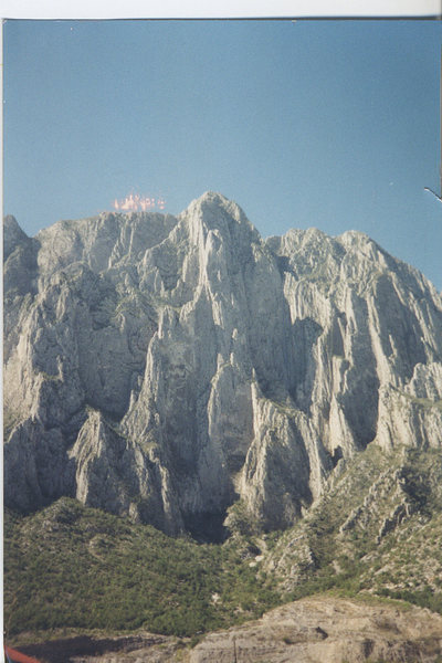 "El Potrero Chico- Central Pillar is ""El Culo de Gato"", Grade V, 12d. A Kurt Smith route and an onsight goal for me. Amazing place."