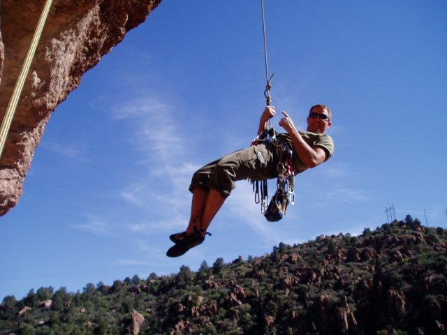 Rock Climbing Photo: Coming Down- Queens Creek- Near Phoenix, AZ. 11b o...