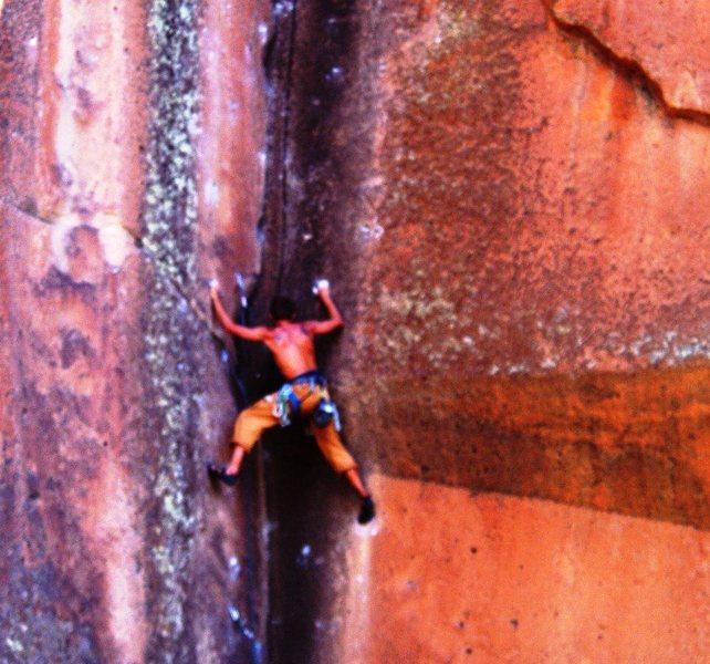 Rock Climbing Photo: Not my Cross to Bear .11b- Penitente