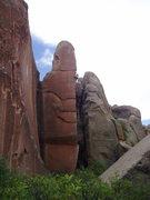 Rock Climbing Photo: Bullet the Blue Sky .12c(TR)- Penitente