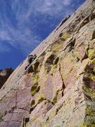 Rock Climbing Photo: Pitch 5, Sandia Mtns., NM