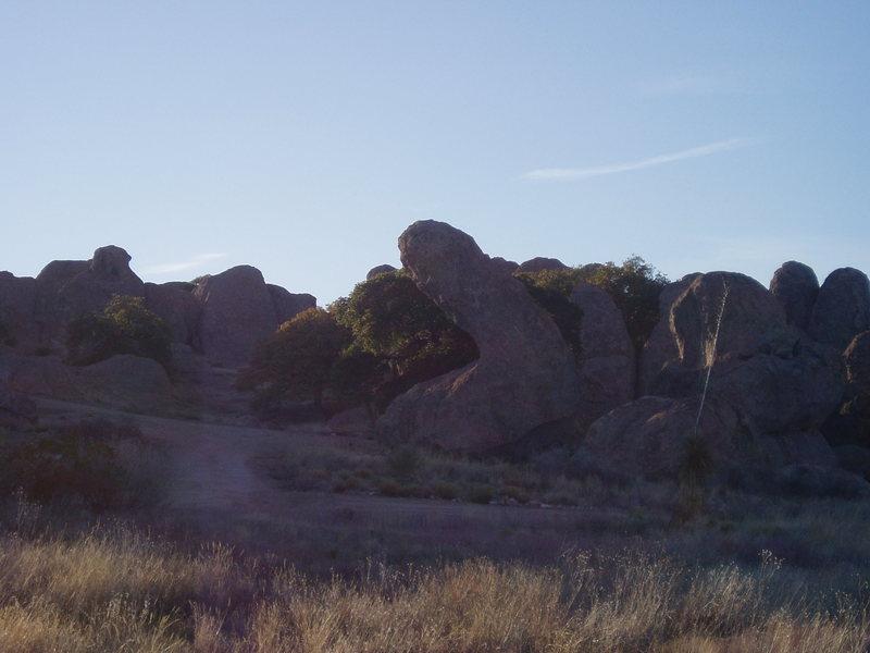 No. YOU climb it!! lol City of Rocks, NM