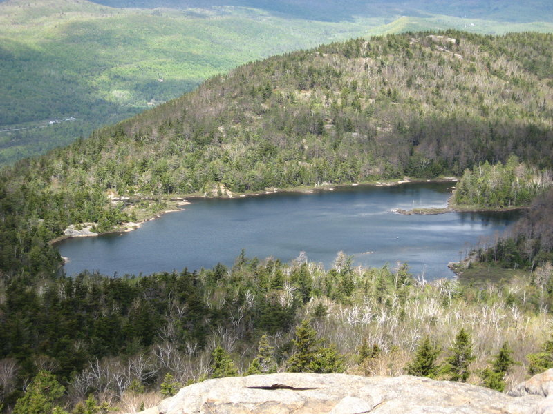 Rock Climbing Photo: Crane Mountain Pond from Pond View Slab