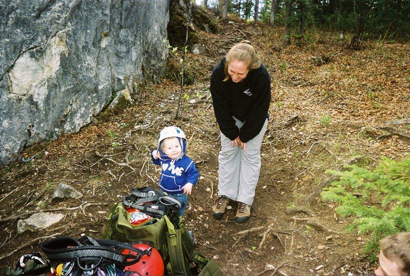 Rock Climbing Photo: I'm ready mom