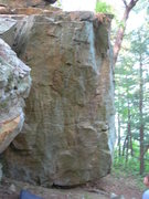 Rock Climbing Photo: start is on right arete.  i wish the picture was a...