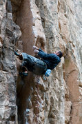Rock Climbing Photo: Sasha Cherry on the layback section - Jail Bait 5....
