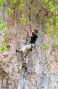 Rock Climbing Photo: Pete Winter - Pinch Fest 5.12b.