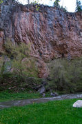 Rock Climbing Photo: Left side of Ruckman Cave.