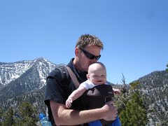 Rock Climbing Photo: My friend David, and cutie son, Quinn. 5/30/08.