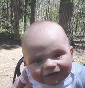 "Rock Climbing Photo: Quinn says...""If I'm a chunky monkey snowball..."