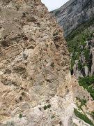 Rock Climbing Photo: Darren Knezek belays Aaron Child on the last pitch...