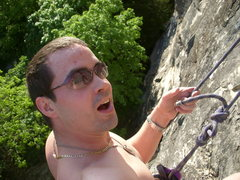 "Rock Climbing Photo: providence, ""next time, send a card"""