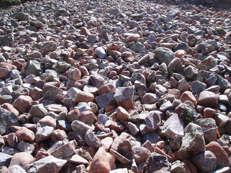 Rock Climbing Photo: Cobbles that wobbled long ago...