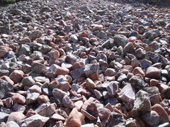 Rock Climbing Photo: Cobbles that wobbled long ago...