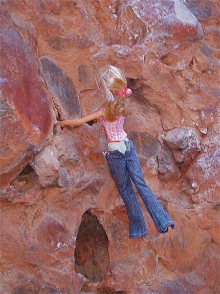 Rock Climbing Photo: Barbie in action.
