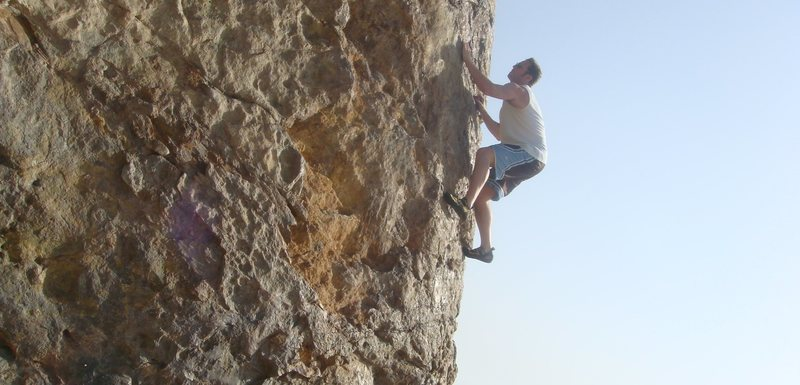 Rock Climbing Photo: Point Dume free solo, Malibu, CA