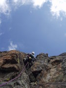 Rock Climbing Photo: Erik Kerzee leading some line on Haimovi (2003).