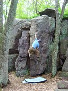 Rock Climbing Photo: Beta anyone?  I can get established left hand high...