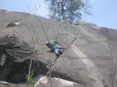 Rock Climbing Photo:  Me on Wayback Layback.
