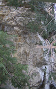 Rock Climbing Photo: The chains are visible at the top and the first bo...