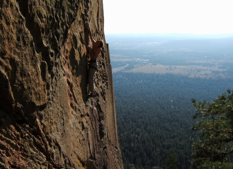 Rock Climbing Photo: I handed Sam the F.A. attempt. He took it gracious...