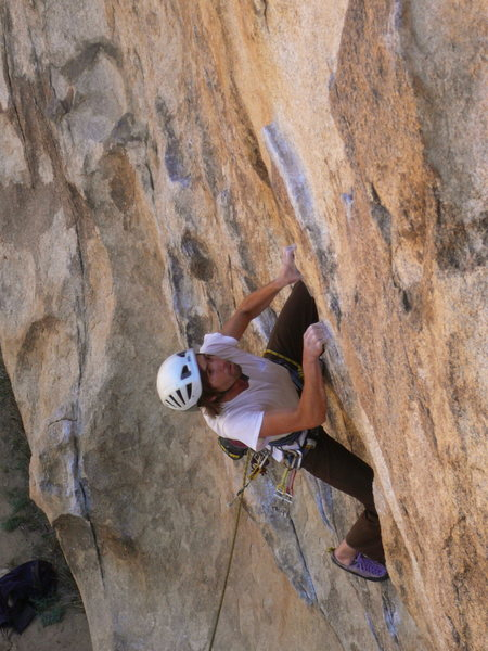 Rock Climbing Photo: Setting up for the crux. Darin Limvere, Photo: Dan...