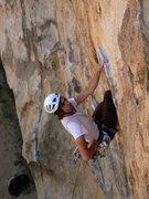 Rock Climbing Photo: Big Moe. Just after the crux. Climber: Darin Limve...