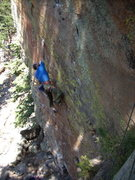 Rock Climbing Photo: David sticking the crux and getting the F.A. of To...