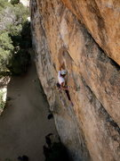 Rock Climbing Photo: Big Moe. Darin about to finally get some gear in. ...
