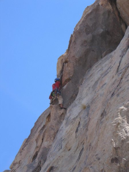 Rock Climbing Photo: Do not sling this flake like I have, it is very lo...