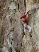 Rock Climbing Photo: Heather D on a route we don't know the name of. NE...