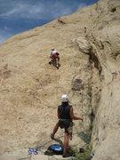 Rock Climbing Photo: Paul starting the 200' pitch 3