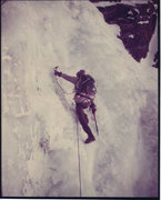 Rock Climbing Photo: Pinnacle Gully: Mt. Washington 1974  Chouinard ice...
