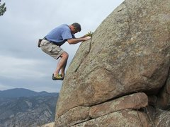 Rock Climbing Photo: Al Simons bouldering in a secluded area in Sulliva...
