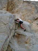 Rock Climbing Photo: Dave at the top of the corner on Tailspin (5.10a),...
