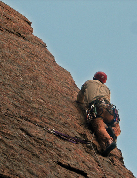 "Rock Climbing Photo: The ""crafty"" nut placement. Crafty or no..."