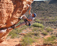Rock Climbing Photo: Walt at the rest on Director of Humor Affairs.