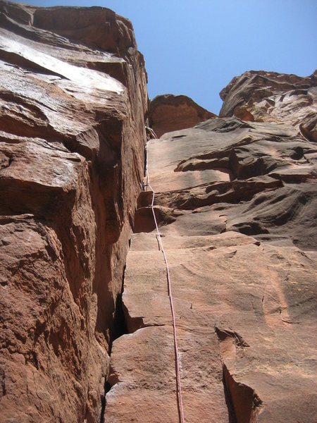 Rock Climbing Photo: Runout if you don't have a #4