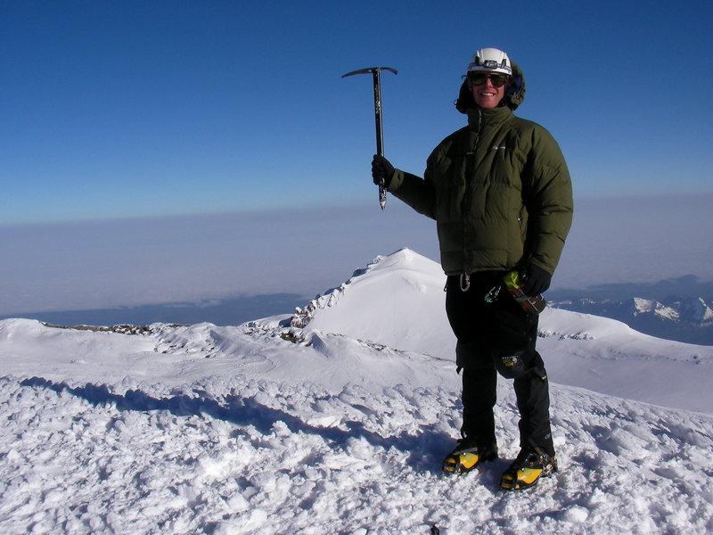 Austin Porzak on the summit of Mt Rainier