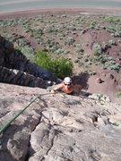 "Rock Climbing Photo: Callista Pearson seconding up ""Up In A Flash...."