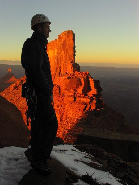 Rock Climbing Photo: Sunset at Castleton Tower. Moab, UT.