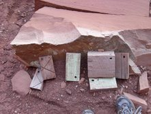 Rock Climbing Photo: The old stacking blocks are still there at the bas...