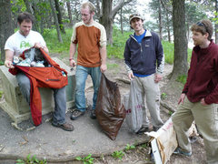 Rock Climbing Photo: The garbage we picked up at the end of the ceremon...