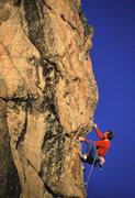 Rock Climbing Photo: JF on Flying Dutchman 5.11d